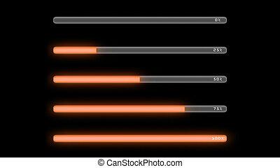 process bar orange dark