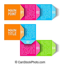 Process chart module - Vector illustration