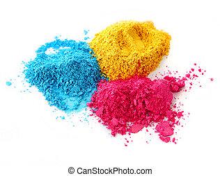 Process color chalk powder