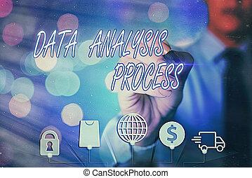 process., dane, analizować, tablica rozdzielcza, analiza, showcasing, handlowy, nuta, pokaz, pisanie, visualization., wykresy, budować, fotografia