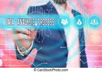 process., dane, analizować, tablica rozdzielcza, analiza, tekst, konceptualny, pokaz, znak, visualization., wykresy, budować, fotografia