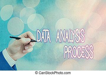 process., dane, handlowy, konceptualny, wykresy, pokaz, ręka, tekst, budować, tablica rozdzielcza, analizować, pisanie, analiza, fotografia, visualization.