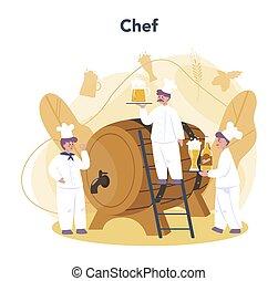 process., fabbrica birra, fermentazione, pescaggio, convept., mestiere, produzione, birra