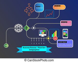 Process Flow Infographics Collections - Concept of business...