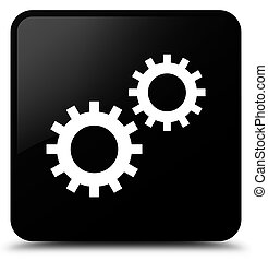 Process icon black square button