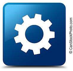Process icon blue square button