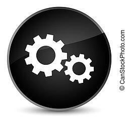 Process icon elegant black round button