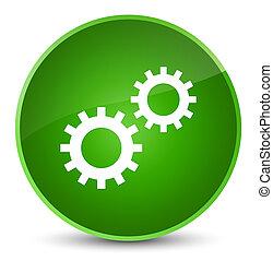 Process icon elegant green round button