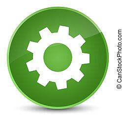 Process icon elegant soft green round button