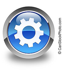 Process icon glossy blue round button 2