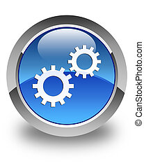 Process icon glossy blue round button 3