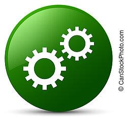Process icon green round button