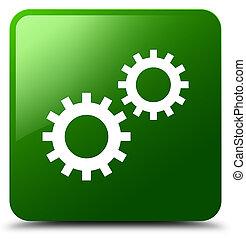 Process icon green square button