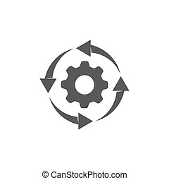 Process icon on white background