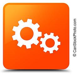 Process icon orange square button