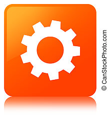 Process icon orange square button