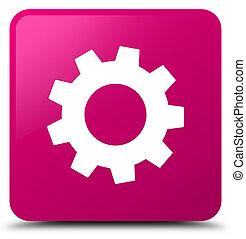 Process icon pink square button