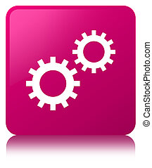Process icon pink square button