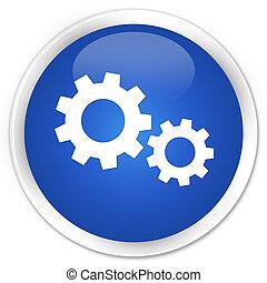 Process icon premium blue round button