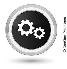 Process icon prime black round button