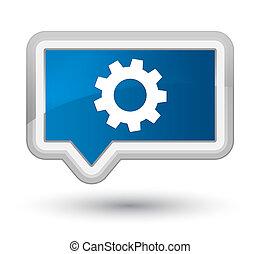 Process icon prime blue banner button