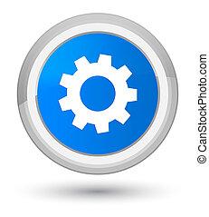 Process icon prime cyan blue round button