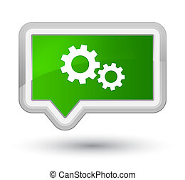 Process icon prime green banner button