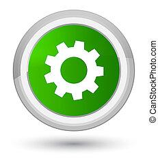 Process icon prime green round button