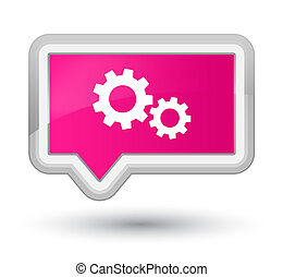 Process icon prime pink banner button