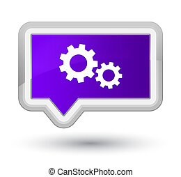 Process icon prime purple banner button