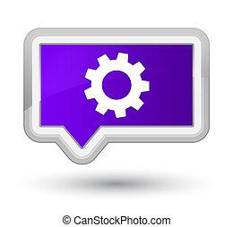 Process icon prime purple banner button