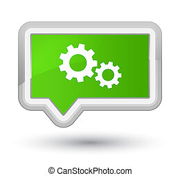 Process icon prime soft green banner button