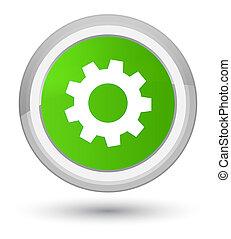 Process icon prime soft green round button