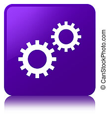 Process icon purple square button