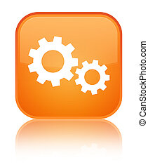 Process icon special orange square button