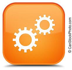 Process icon special orange square button