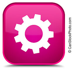 Process icon special pink square button