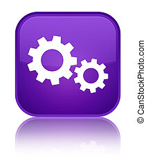 Process icon special purple square button