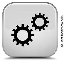 Process icon special white square button