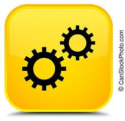 Process icon special yellow square button