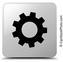 Process icon white square button
