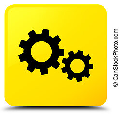 Process icon yellow square button