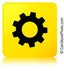 Process icon yellow square button
