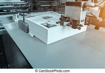 process in modern printing house, offset printing.