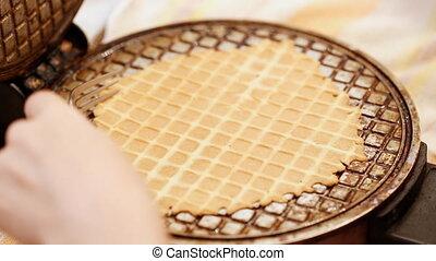 Process of baking of waffle