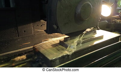 Process of cutting topsheet of billet by tool on mill....
