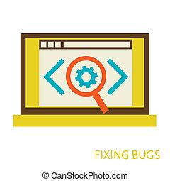process of fixing bugs