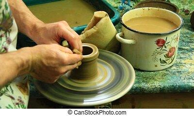 process of making pottery - Pottery making process. Process...
