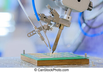 Process of selective soldering components to printed circuit board at factory