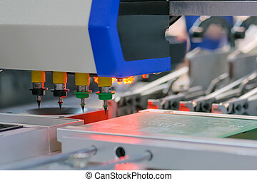Process of selective soldering components to printed circuit boards at factory